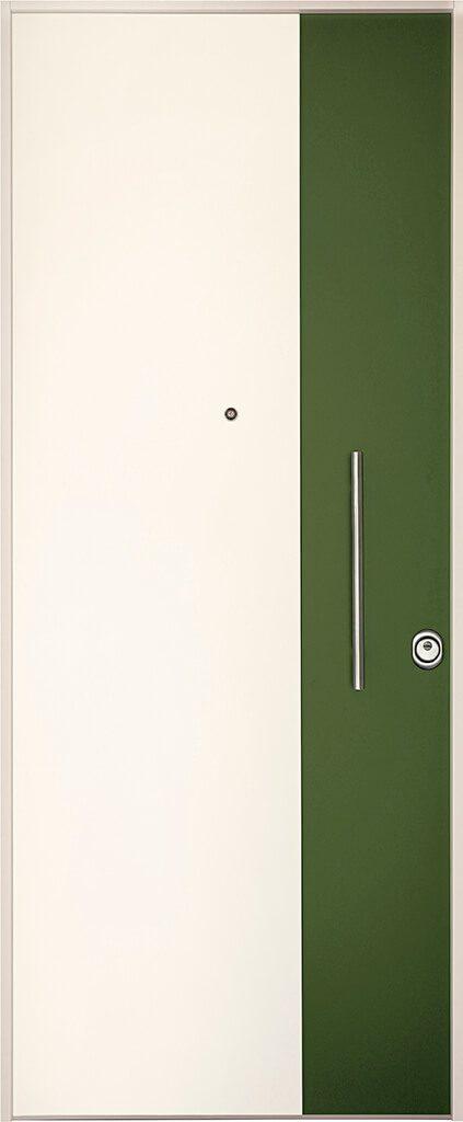 porta blindata rivestimento bianco e verde