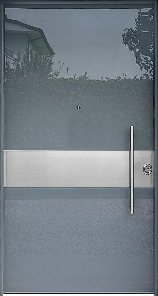 porta blindata rivestimento lucido e metallo