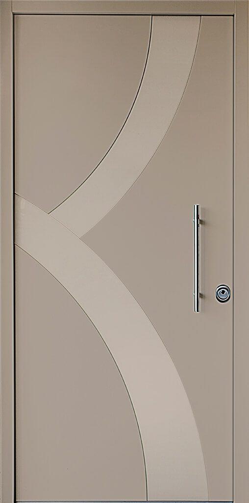 porta blindata rivestimento opaco e disegno ad archi lucido